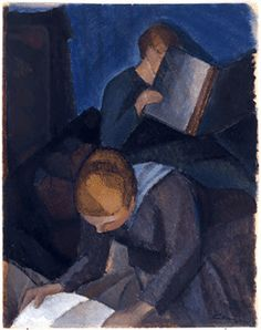 Cawén, Alvar (1886-1935) Reading girls Woman Reading, Children Reading, Any Book, Female Art, Finland, Book Lovers, Book Art, Books To Read, Expressionism