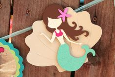 Mermaid Birthday Banner. $28.00, via Paper Party Parade on Etsy.