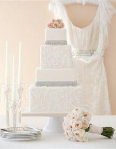 simple, lace cake