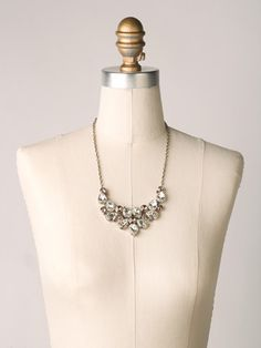 Dare To Pear Crystal Bib Necklace in Crystal Rose - Sorrelli