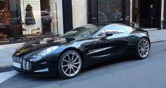Aston Martin One-77. Beautiful in black.