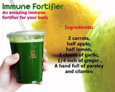 Good smoothie for the endometriosis diet - immune support smoothie - its your immune system that will help you fight endometriosis