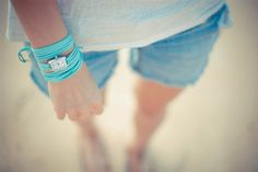 Feral Watches turquoise suede wrap watch, womens wrap watches