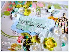 QuillingScrap-Art: Kartka Urodzinowa- Kwitnący Raj
