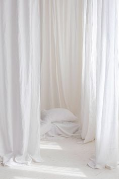 White linen extra wide curtain panel White stonewashed linen curtains, Washed soft linen drapes in snow white