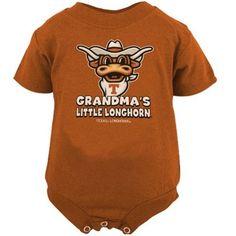 Texas Longhorns Infant Burnt Orange Grandma's Little Longhorn Mascot Creeper