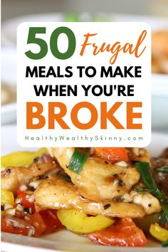 Are you looking for mega cheap meals? You'll find frugal meals for large families that will save you money. A a great source for family menu ideas meal planning. Eating healthy food doesn't have to be Healthy Eating Habits, Healthy Foods To Eat, Clean Eating Recipes, Easy Healthy Recipes, Cheap Recipes, Inexpensive Healthy Meals, Dessert Healthy, Simple Meals, Cheap Healthy Family Meals