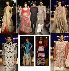 Manish Malhotra presented a fabulous show with most of the Bollywood celebs such as Alia Bhatt, Aditya Roy Kapoor, Urmila Matondkar, and Huma Qureshi walking the ramp. He presented bridal wear with heavy Kashmiri zari work in different shades of gold, which included saris, shararas with embroidered jackets and anarkali suits for women and fitted sherwanis and bandhgalas for men, in variety of fabrics. http://fashiontrendsandtipsblog.wordpress.com/2014/07/24/india-couture-week-2014/