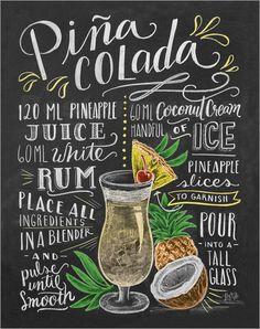 Poster Piña-Colada Rezept