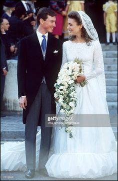 Wedding of Prince Guillaume of Luxembourg and Sibilla Weiller in Versailles, France on September 24, 1994.
