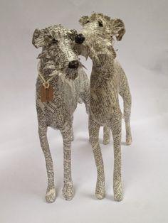 Lorraine Corrigan wire and paper sculptures Paper Mache Clay, Paper Mache Sculpture, Sculpture Projects, Dog Sculpture, Animal Sculptures, Art Projects, Paper Sculptures, Paper Mache Animals, Papier Diy