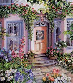【理想的生活】被花丛围绕的小店
