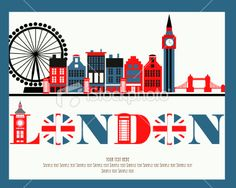 London Royalty Free Stock Vector Art Illustration