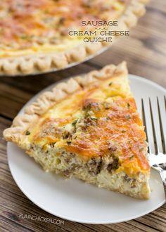 Sausage and Cream Cheese QuicheFollow for recipesGet your  Mein Blog: Alles rund um Genuss & Geschmack  Kochen Backen Braten Vorspeisen Mains & Desserts!