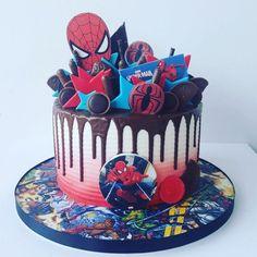 Spiderman Cake Ideas for Little Super Heroes - Novelty Birthday Cakes Birthday Drip Cake, Spiderman Birthday Cake, Novelty Birthday Cakes, 40th Birthday Cakes, Superhero Cake, Drip Cakes, Occasion Cakes, Buttercream Cake, Themed Cakes
