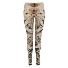 Geometric Hummingbird Print Leggings Alexander McQueen | Leggings | Trousers Skirts |