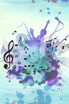 Music Backgrounds, Photo Backgrounds, Background Images, Wallpaper Backgrounds, Music Notes Background, Music Painting, Music Artwork, Music Notes Art, Music Doodle