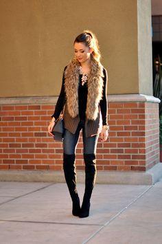 fur scarf