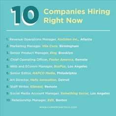 Group Interview, Companies Hiring, Phone Interviews, Chief Operating Officer, Operations Management, Job Opening, Dream Job, Job Search, The Fosters