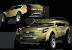 Russian Sergey Kon'kov, a graduate student at the Munich University of Applied Sciences, decided to design the ultimate off-road vehicle for his graduate t