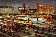 Railroad Print: Kansas City by John Bromley