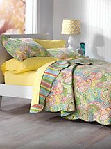 Nicole Paisley Quilt and other Home Bedroom at Linen Source. | Outlet