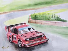 Audi Sport S1 Keith Edwards Motors Watercolor by CarbonArtWorks, $500.00