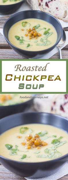 Roasted Chickpea Soup. You taste the NUTTINESS and EARTHINESS of roasted chickpeas in every spoonful of this creamy and healthy soup!