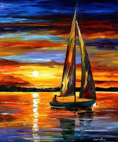 Leonid Afremov oil on canvas palette knife buy original paintings art famous artist biography official page online gallery large artwork fine water boat sea scape pier dock night calm yachts harbor shore rest ship regatta Frida Art, Sailboat Painting, Large Artwork, Nautical Art, Oil Painting On Canvas, Canvas Canvas, Diy Painting, Knife Painting, Cotton Canvas