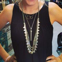 #stelladotstyle Stella & Dot Sutton, Rebel, and Eternity Necklaces. http://www.stelladot.com/deborahkachhal