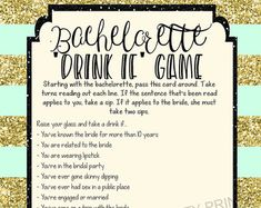 INSTANT DOWNLOAD printable bachelorette game / bachelorette drinking game / bachelorette party game / drink if game / take a sip game