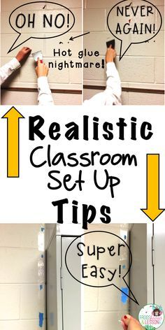Check out these practical tips for setting up your classroom and avoiding common rookie mistakes. I compiled a list of my best suggestions in this fun and usef Classroom Hacks, Classroom Setting, Music Classroom, Classroom Setup, Future Classroom, Classroom Design, Classroom Arrangement, Classroom Teacher, Hanging Classroom Decorations