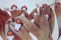 May Gibbs gumnut babies Australian Painting, Australian Art, Woodland Creatures, Magical Creatures, Baby Artwork, Mythological Creatures, Faeries, Art Forms, Illustrators