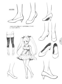 部屋 - knickerweasels: Drawing Feet and Shoes from... https://www.facebook.com/CharacterDesignReferences
