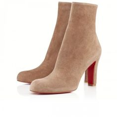68ae9ee47ee0 Christian Louboutin Miss Tack Booty 85mm Suede Grege 19-383 Chunky High  Heels