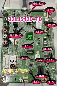 Sony Lcd, Sony Led Tv, Tv Led, Basic Electronic Circuits, Electronic Circuit Projects, Electronic Schematics, Panasonic Tvs, Iphone Secrets, Computer Maintenance
