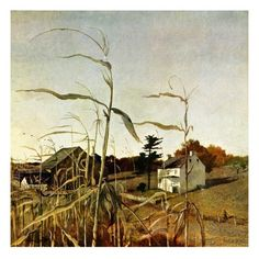 """""""Autumn Cornfield,""""October 1, 1950 Giclee Print by Andrew Wyeth at AllPosters.com"""