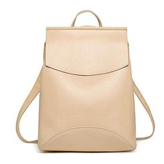 Women Leather Youth Backpack