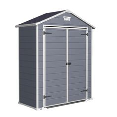 Found it at Wayfair - Manor Storage Shed in Gray & Whitehttp://www.wayfair.com/daily-sales/p/Yard-Clean-Up-Essentials-Manor-Storage-Shed-in-Gray-%26-White~KTR1117~E13616.html?refid=SBP.rBAZEVMLhHGaU1zYX6HaAsKX6GeUv0YGgUqYaehRaA4