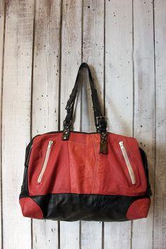 """Handmade Italian Vintage  Leather Luggage """"MOTORS BAG"""""""