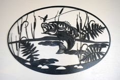 Large Bass Metal Wall Hanging by OutWestAccents on Etsy, $85.00
