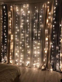 diy fairy light for minimalist bedroom decoration 1 Bedroom Lighting, Room Decor Bedroom, Girls Bedroom, Bedroom Ideas, Bedroom Rustic, Bedroom Small, Diy Bedroom, Bedroom Designs, Small Rooms