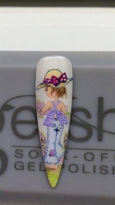 Sarah Kay style by Francynails - Nail Art Gallery nailartgallery.nailsmag.com by Nails Magazine www.nailsmag.com #nailart