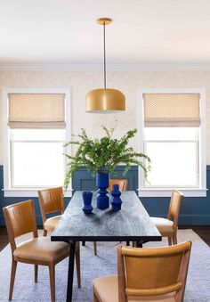 12 Tips To Make A Spec Home, Special...With Max Humphrey - Emily Henderson #homedesign #homeimprovement #interiors #homehacks Dining Room Table, Dining Chairs, Dining Rooms, Custom Roman Shades, Country Living Fair, Kitchen Cabinetry, Tasting Room, Historic Homes, Design Firms