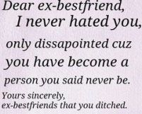 Discover and share Best Ex Best Friend Quotes. Explore our collection of motivational and famous quotes by authors you know and love. Fake Friendship Quotes, Quotes About Friendship Ending, Ending Quotes, Broken Friendship, Karma Quotes, Bff Quotes, Mood Quotes, True Quotes, Family Quotes