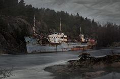 An abandoned ship called Hamen.