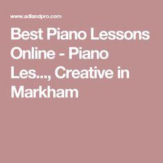 , Creative in Markham Best Piano, Piano Lessons, Ontario, Creative, Piano Classes, Piano Teaching