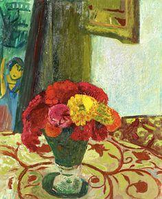 CUNO AMIET (1868-1961) Vase mit Zinnien, 1944