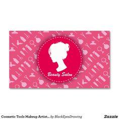 Cosmetic Tools Makeup Artist Beauty Salon Business Card