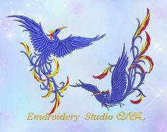 Embroidery design Birds of Paradise от embroiderystudioONA на Etsy